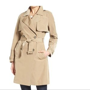 Madewell Parcel Double Breasted Belted Trench Coat